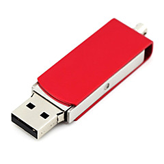 baratos Pen Drive USB-16GB unidade flash usb disco usb USB 2.0 Metal Rotativo