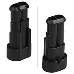 10 kit 1.5mm auto boot motor fiets truck 2 pins manier waterdichte elektrische draad connector plug