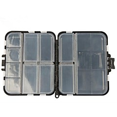cheap Fishing Tackle Boxes-Black Double-faced Sea&Rock Fishing Tool Plastic Boxes for Fishing Parts Fishing Tackle Box Hard Plastic