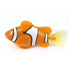 preiswerte Wasserspielzeug-Wasserspielzeug Elektronische Haustiere Spielzeuge Fernbedienungskontrolle LED-Lampe Fische Maschine Kunststoff 1 Stücke Geschenk