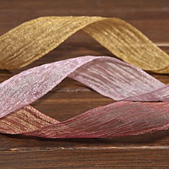 Gorgeous Mosaic Gold Fold Organza Ribbon(More Color)