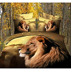 vier stuk 3d lion king printen dekbedovertrek set