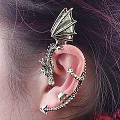 Ear Cuffs Stop Silver Brown Biżuteria Na 2pcs
