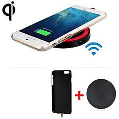 qi standardní bezdrátová nabíječka přijímač zadní kryt + bezdrátový vysílač pro iPhone 6 / iPhone 6s