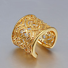 levne -Široké prsteny Křišťál Stříbro Zlaté Zirkon Třásně Módní Zlatá Zlatá/růžová Šperky Svatební Párty Denní Ležérní 1ks