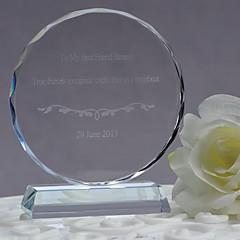 tanie Prezenty dla Panny Młodej-prezenty druhna prezent spersonalizowane niestandardowe okrągłe kryształowe ozdoby