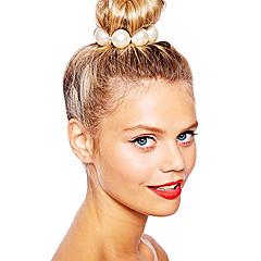 halpa -shixin® klassinen valkoinen helmi Euroopan elastinen hiukset siteet (1 kpl)