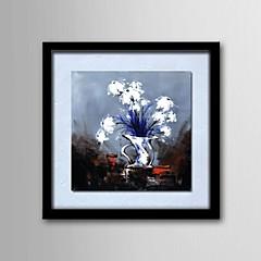 Hånd-malede Blomstret/Botanisk Et Panel Canvas Hang-Painted Oliemaleri For Hjem Dekoration