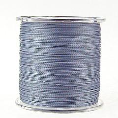 300M / 330 Yards Linha Traçada PE / Dyneema Linhas de Pesca Dark Gray 30LB / 35LB / 40LB / 45LB 0.26mm,0.28mm,0.30mm,0.32mm mm ParaPesca