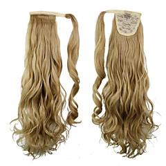 hesapli Peruklar ve Saç Postijleri-Sentetik Dalgalı Sarışın At kuyruğu