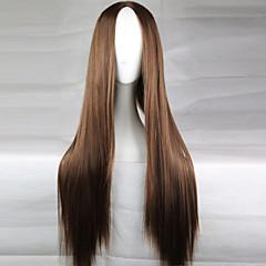 tanie Peruki syntetyczne-Peruki syntetyczne Gęstość Damskie Brązowy Peruka naturalna cosplay peruka Długo