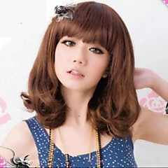 cheap Synthetic Wigs-Synthetic Wig Wavy Bob Haircut Women's Black Carnival Wig Halloween Wig Black Wig