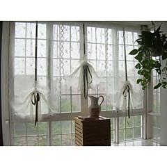 """Egy panel 24 """"wx44"""" l (63cmwx113cml) hímzett fehér kis rózsa virág botanikai Terri Wong puszta függöny"""