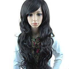 cheap Synthetic Wigs-Synthetic Wig With Bangs With Bangs Women's Black Black Wig Costume Wig Long