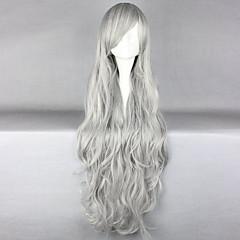 tanie Peruki syntetyczne-Kobieta Peruki syntetyczne Długo Grey Karnawałowa Wig cosplay peruka Halloween Wig Costume Peruki