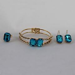 tanie Zestawy biżuterii-Damskie Zestawy biżuterii Akrylowy Pozłacane Luksusowy Modny Impreza Urodziny Zaręczynowy Prezent Codzienny Pierścionki Náušnice