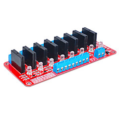 voordelige -acht voor Arduino solid state relais (rood)