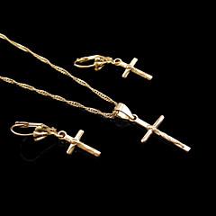 Dame Seturi de bijuterii Nuntă Petrecere Zi de Naștere Logodnă Zilnic Casual Sport Placat Auriu Σκουλαρίκια Coliere