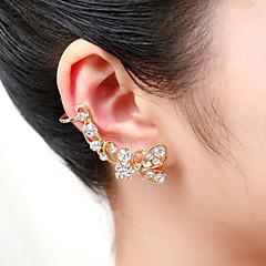 Męskie Damskie Ear Cuffs Kryształ Akrylowy Posrebrzany Pozłacane Imitacja diamentu Animal Shape Motyl Biżuteria Na Ślub Impreza Codzienny