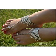 billige Kropssmykker-Krystall Ankel - Krystall, Fuskediamant Unikt design, Mote Sølv Til Bryllup Fest Daglig Dame