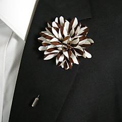 pánské přívěsky hnědé a bílé hedvábné zboží brož klasický ženský styl