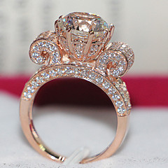 Never Fade 18K Rose Gold Plate 3CT Women Ring SONA Simulate Diamond Ring for Female Bride Jewelry Luxury Sterling Silver
