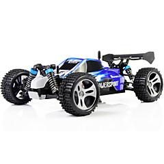 RC Car WL Toys A959 2,4G Korkea nopeus 4WD Drift Car Lastenvaunut 1:18 50 KM / H Kauko-ohjain Ladattava Sähköinen
