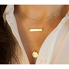 cheap Necklaces-Women's Round Shape Alloy Causal Daily Costume Jewelry