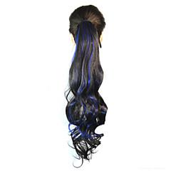 billiga Peruker och hårförlängning-Hårförlängning med mikroring Vågigt Hårstycke HÅRFÖRLÄNGNING 18 tum Regnbåge