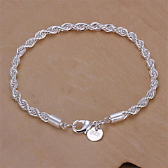 cheap Bracelets-Women's Chain Bracelet Basic Fashion Sterling Silver Snake Geometric Jewelry Jewelry Wedding Party Daily Costume Jewelry Silver
