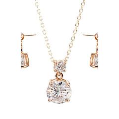baratos Conjuntos de Bijuteria-Mulheres Cristal Conjunto de jóias - Cristal, Zircônia Cubica Incluir Para Casamento Festa Diário