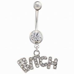 tanie Piercing-Pierścień pępka / piercing brzucha - Stal nierdzewna Damskie Biały / Różowy Biżuteria Na Codzienny