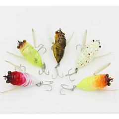 billiga Fiskbeten och flugor-1 pcs Hårt bete / Flugor / Veva Hårt bete / Flugor / Veva Hårt Plast Sjöfiske / Flugfiske / Kastfiske / Spinnfiske / Färskvatten Fiske / Abborr-fiske / Drag-fiske / Trolling & Båt Fiske