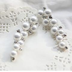 Ear Cuffs Paciorki Perłowy Imitacja pereł sztuczna Diament Stop Gold Silver Biżuteria Na 2pcs