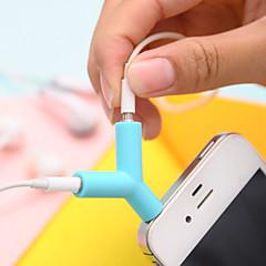 billige Telefoner og nettbrett-3,5 mm hodetelefoner deling type plug (tilfeldig farge) diy for iphone samsung galaxy s8 s7 sony huawei