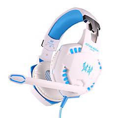 各g2100ヘッドフォンは、PC用のマイクを耳のゲーミング振動ボリュームコントロールの上に3.5ミリメートルを有線