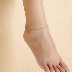 olcso -divat női strand jóga tánc egyszerű matt gyöngyök lánc bokalánc