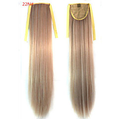 cheap Wigs & Hair Pieces-Straight Synthetic Hair Piece Hair Extension 18 inch #22