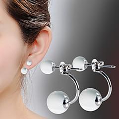 お買い得  ファッションピアス・イヤリング-女性用 オパール ドロップイヤリング  -  純銀製, 銀メッキ, オパール ファッション スクリーンカラー 用途 日常