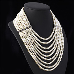 Women's Statement Necklaces Pearl Necklace Pearl Jewelry Pearl Elegant Luxury Multi Layer Jewelry For Wedding Party Anniversary