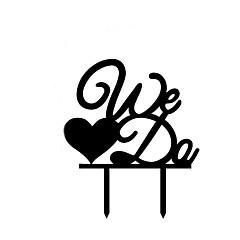 Taarttoppers Niet-persoonlijk Monogram acryl Bruiloft / Trouwdag / Bruidsshower / Verjaardag Zwart 1 OPP