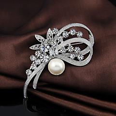 billige Motebrosjer-kvinners krystall søt blomst brosje for bryllupsfesten dekorasjon skjerf, fine smykker