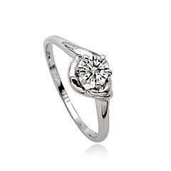 billige Motering-Dame Statement Ring - Krystall, Fuskediamant, Legering Personalisert, Luksus, Europeisk 7 Sølv Til Fest Daglig Avslappet