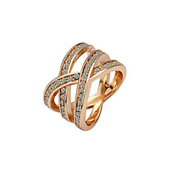 お買い得  指輪-指輪 - スタイリッシュ ゴールド シルバー リング 用途 結婚式 パーティー パーティー/フォーマル