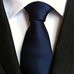 Męskie Imprezowa / Do biura / Podstawowy Krawat - Poliester, Jendolity kolor / Urocza / Niebieski