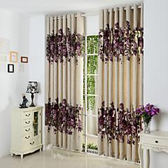 levne Doplňky na okna-záclony závěsy Obývací pokoj Současné Polyester Vykrojení