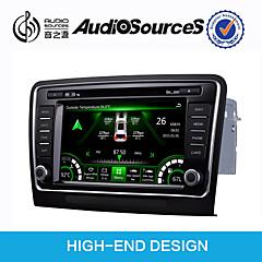 billiga DVD-spelare till bilen-8 tum Windows CE 6.0 Inbyggd Bluetooth / GPS / 3D-gränssnitt för Volkswagen Stöd / Rattstyrning / Pekskärm / SD / USB-stöd / AVI