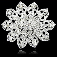 cheap Brooches-Women's Pearl / Rhinestone Brooches - Fashion Silver Brooch For Daily