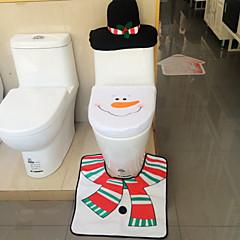 저렴한 -2015 핫 1lot 멋진 산타 변기 커버와 양탄자 욕실 설정 윤곽 양탄자 크리스마스 장식