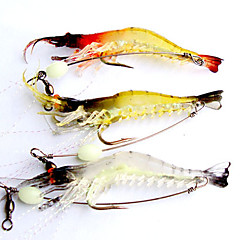 cheap Fishing Lures & Flies-3 pcs Soft Bait / Fishing Lures Soft Bait / Craws / Shrimp Soft Plastic Luminous Lure Fishing